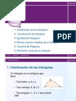 los triangulos,area de matematica
