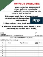 2nd Trim Portfolio Guidelines