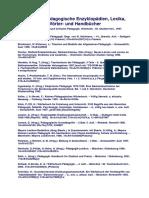 Allgemeinpädagogische Enzyklopädien Lexika Wörter- und Handbücher