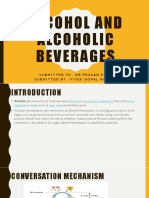 Alcohol and Alcoholic Beverages