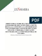Orden Foral 93-2008_Atención a la Diversidad en Navarra