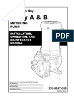 MANUAL MILTON ROY _METERING PUMP A&B