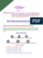 Class III Maths Money