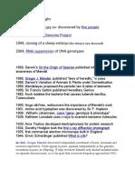 Recent Breakthroughs in Genetics