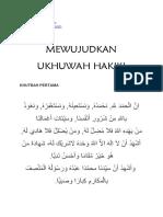 naskah khutbah no 52 2019 mewujudkan ukhuwah
