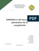 Inhibidores de la coagulación