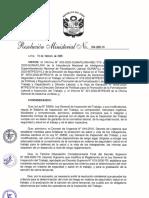 Resolución Ministerial N° 034-2020-TR