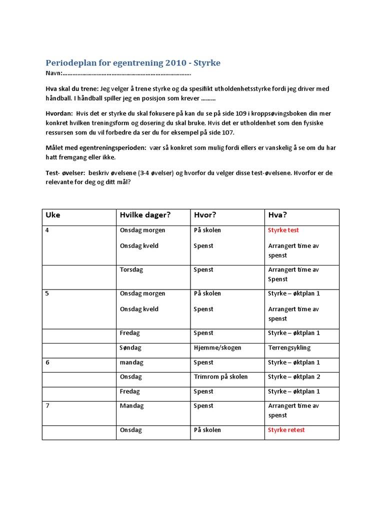 Eksempel p periodeplan for Eplan for drivers