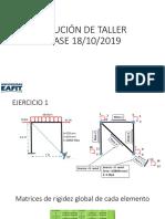 solución de taller Análisis matricial de estructuras