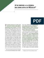 Por qué se impone a la fuerza una P Educ en México