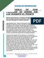 Nota de Prensa Cortes de Luz PP