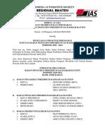 Berita Acara Rapat Pembentukan Pengurus IAS Banten