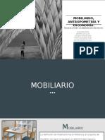 Mobiliario, Antropometría y Ergonomía.