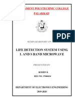 LIFE DETECTION SYSTEM USING L AND S BAND MICROWAVE final seminar report