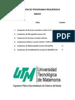 Manual de instalacion de los programas