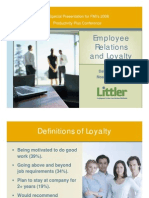Workshop Employee Relations and Loyalty