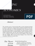Housing and Economics