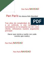 b) Carta de Platos. Pan París NAVIDAD 2010