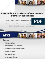 A system for the acquisition of data to predict Pulmonary Tuberculosis