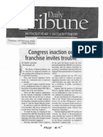 Daily Tribune, Feb. 18, 2020, Congress inaction on franchise invites trouble.pdf