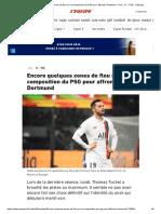 Encore Quelques Zones de Flou Sur La Composition Du PSG Pour Affronter Dortmund - Foot - C1 - PSG - L'Équipe