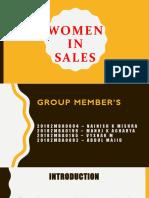 WOMEN IN SALES - SRM