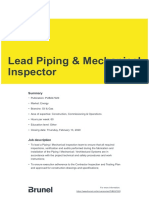 Lead Piping Mechanical Inspector Pub247020