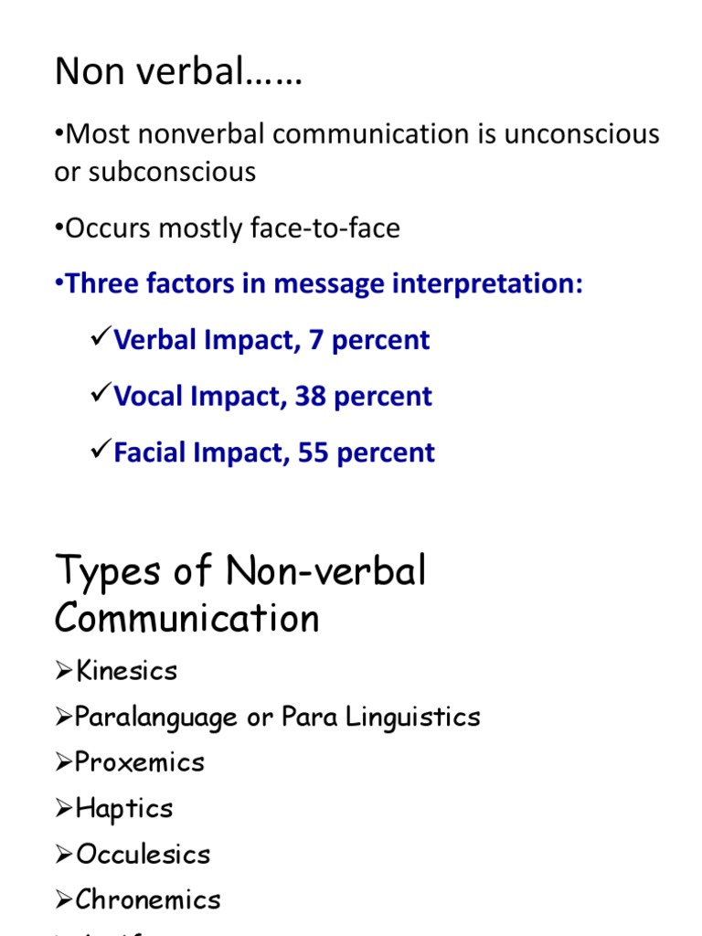 Non Verbal Communication Nonverbal Communication Communication Across cultures, time perception plays a large role in the. scribd