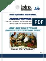 Manual del Participante. Curso Taller Diseño de Proyectos Productivos en Apoyo a la Economía Familiar.pdf