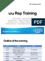 UG Rep Training