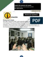 Boletín N° 70, del 27 de Septiembre al 3 de Octubre de 2010
