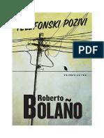 Roberto Bolanjo - Telefonski pozivi
