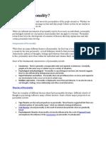 Project Personality Development