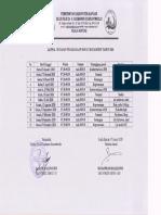 Jadwal Rapat Bulanan Manajemen RSUD dr. H. Soemarno Sosroatmodjo Kuala Kapuas 2020