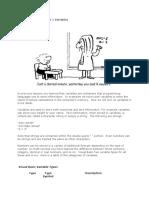 Visual Basic Code—Part 1 Variables