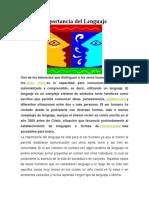 Importancia del Lenguaje 1.docx