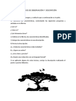 EJERCICIOS DE OBSERVACIÓN Y  DESCRIPCIÓN