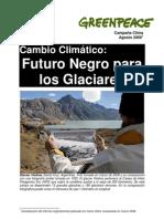 Cambio Climatico Futuro Negro para los glaciares
