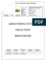 GROUDING SYSTEM FIELD TEST PROCEDURE