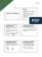 Phonetics Phonology Handout Lecture 1