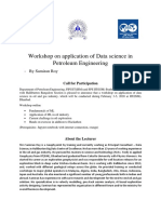 Workshop on application of Data science in Petroleum Engineering