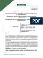 Metodología para la construcción de objetos virtuales de aprendizaje