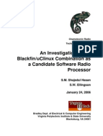 Blackfin-uClinux Software Defined Radio