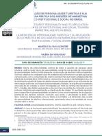 A MENSURAÇÃO DE PERSONALIDADE TURÍSTICA E SUA APLICAÇÃO NA PRÁTICA DOS AGENTES DE MARKETING TURÍSTICO INSTITUCIONAL E SOCIAL NO BRASIL