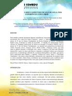 O CONTO DE CLARICE LISPECTOR EM SALA DE AULA -  UMA EXPERIÊNCIA COM O PIBID