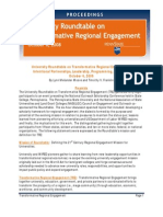 University Roundtable on Transformative Regional Engagement