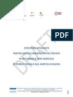 Strategie integrata pentru dezvoltarea initiativei private in sectoarele non-agricole in zonele rurale ale judetului Bacau