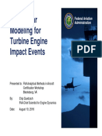 Non-Linear Modeling for Turbine Engine Impact Events