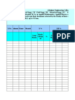 Format for Data Entry for Campus