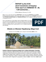 ICOE-Shwezar Kapakaung, Summarized